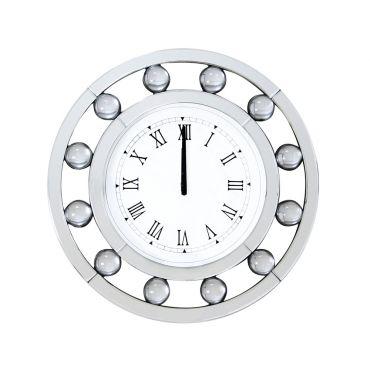 Credo Round Wall Clock Mirrored Frame