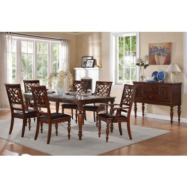 Creswell Traditional Dining Table Set