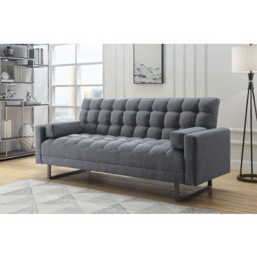 Crossover Grey Linen Sofa Bed Futon