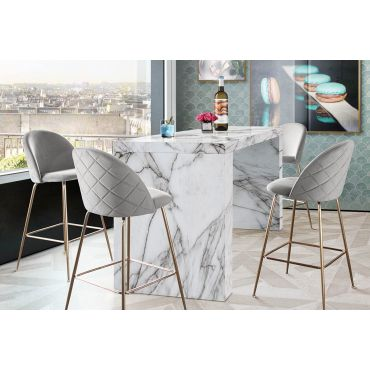 Dabny Faux Marble Bar Table