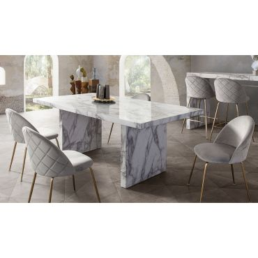 Dabny Faux Marble Dining Table
