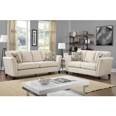 Dalton Ivory Fabric Sofa Collection