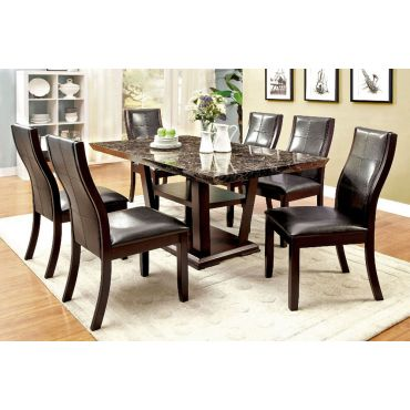 Danville Marble Top Dining Table Set