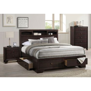 Darien Bed With Storage Drawers
