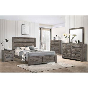 Darryl Bedroom Furniture Rustic Finish