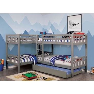 Flores White Finish Bunk Bed