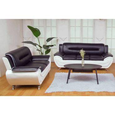 Deliah Black and White Sofa