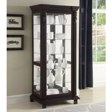 Delso Traditional Style Curio Cabinet