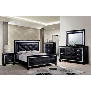 Deluxe Black Bedroom Furniture