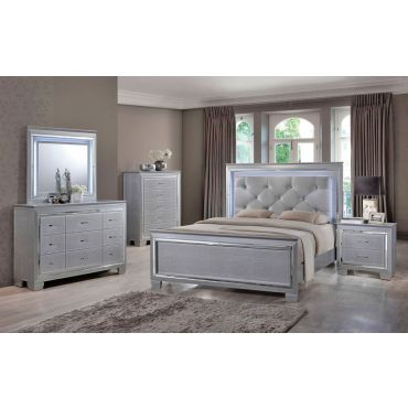 Deluxe Grey Contemporary Bed Collection