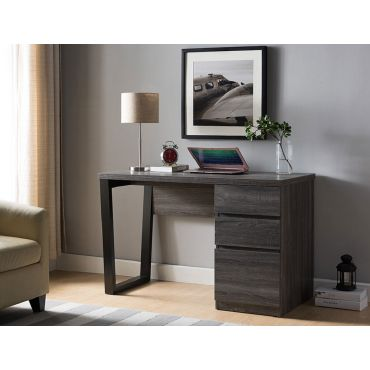 Depon Office Desk Rustic Gray Finish