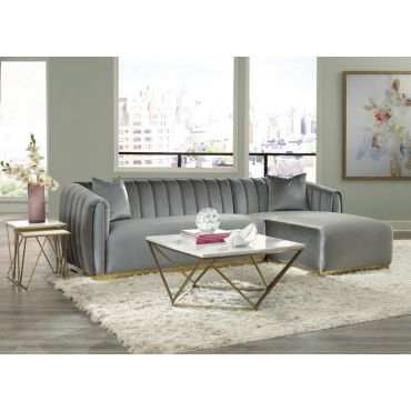 Derwyn Modern Sectional With Gold Base
