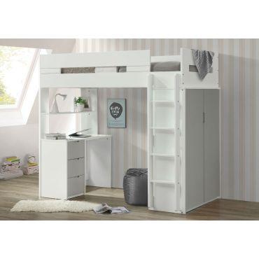 Duncan Storage Loft Bed With Desk