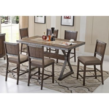Doran Industrial Style Counter Height Table Set
