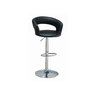 Dovna Black Leather Bar Stool