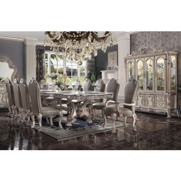Dresden Bone White Dining Table Set