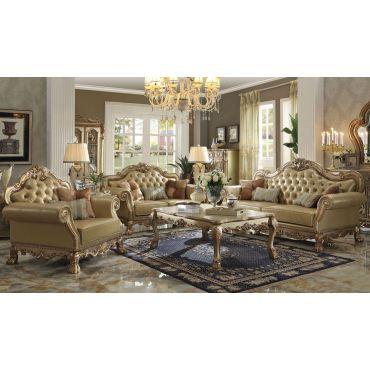 Dresden Patina Gold Living Room Furniture