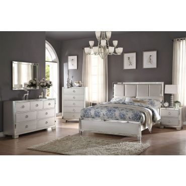 Dria Platinum Finish Bedroom Furniture