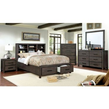 Dylan Rustic Brown Bed With Drawers