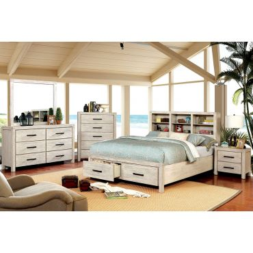 Dylan Wire Brushed White Storage Bed