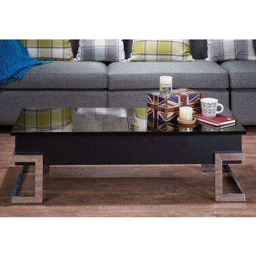 Easmor Lift Top Coffee Table,Easmor Glossy Black Coffee Table
