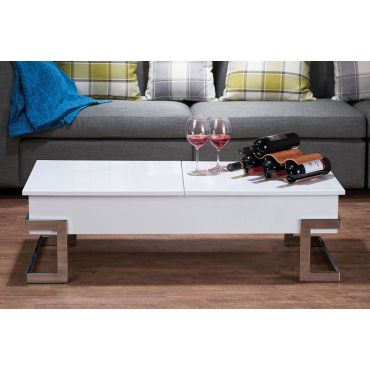 Easmor White Lacquer Coffee Table