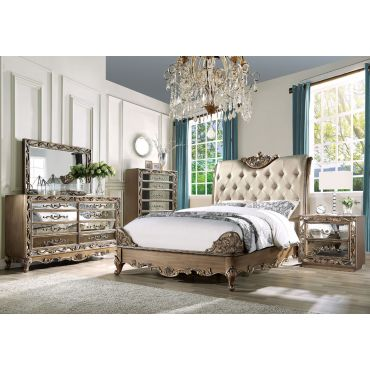 Edgewood Gold Finish Bedroom Set