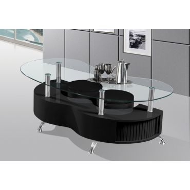 Elhan Black Coffee Table With Stools