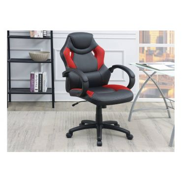 Reliford Grey Leather Office Chair
