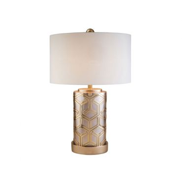 Elza Weave Rose Gold Table Lamp