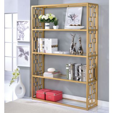 Enigma Gold Finish Bookshelf