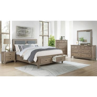 Enrico Wire Brushed Finish Bed Storage