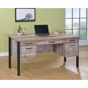 Ericka Weathered Oak Office Desk