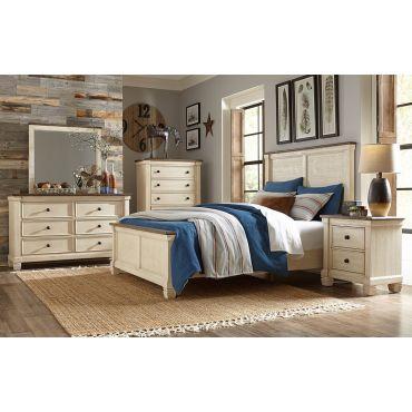 Erlend Antique White Transitional Bedroom Set
