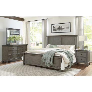 Erlend Grey Finish Transitional Bedroom Set