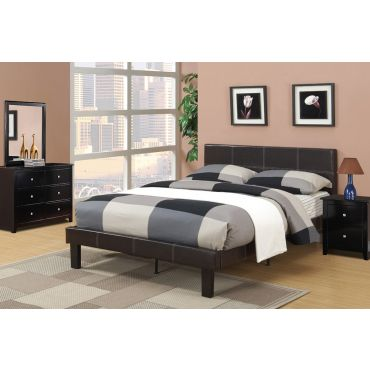 Nevaeh Espresso Leather Youth Bed