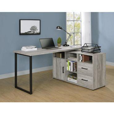 Esser L Shape Desk Rustic Grey