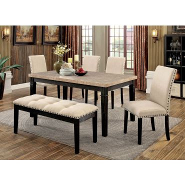 Eviouse Marble Top Dining Table Set