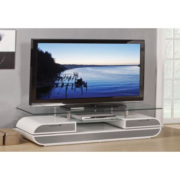 Evos Grey and White Modern TV Stand
