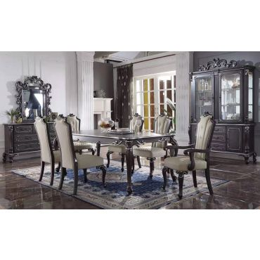 Ezra Traditional Style Dining Table Set