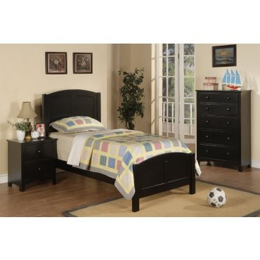 Paskal Black Finish Twin Size Bed