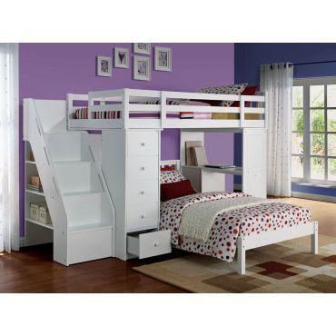 Faline Loft Bed With Workstation