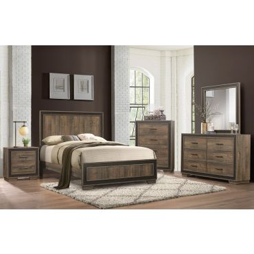 Farber Rustic Finish Bed