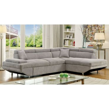 Favian Grey Fabric Sectional Sleeper