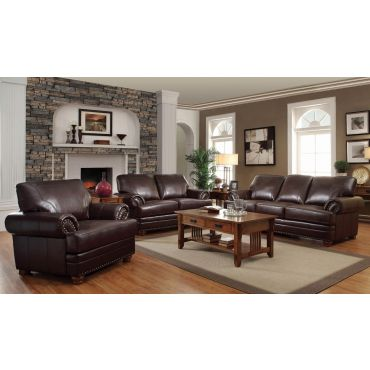 Fenmore Leather Living Room Sofa