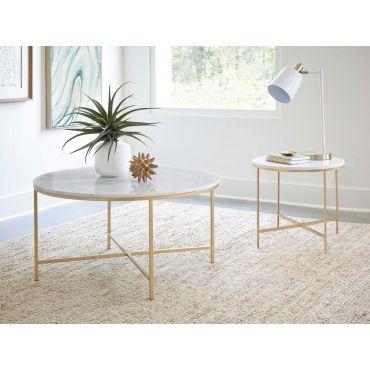 Star Rustic Grey Modern Coffee Table
