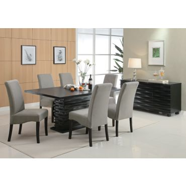Table With Gray Chairs