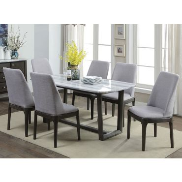 Filippo Marble Top Dining Table Set
