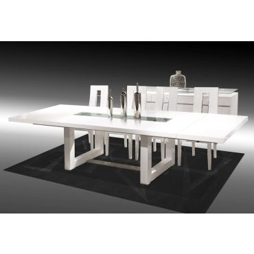 Fillmore White Lacquer Oversized Dining Table