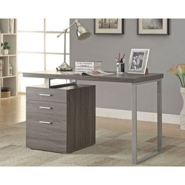 Finley Contemporary Gray Office Desk